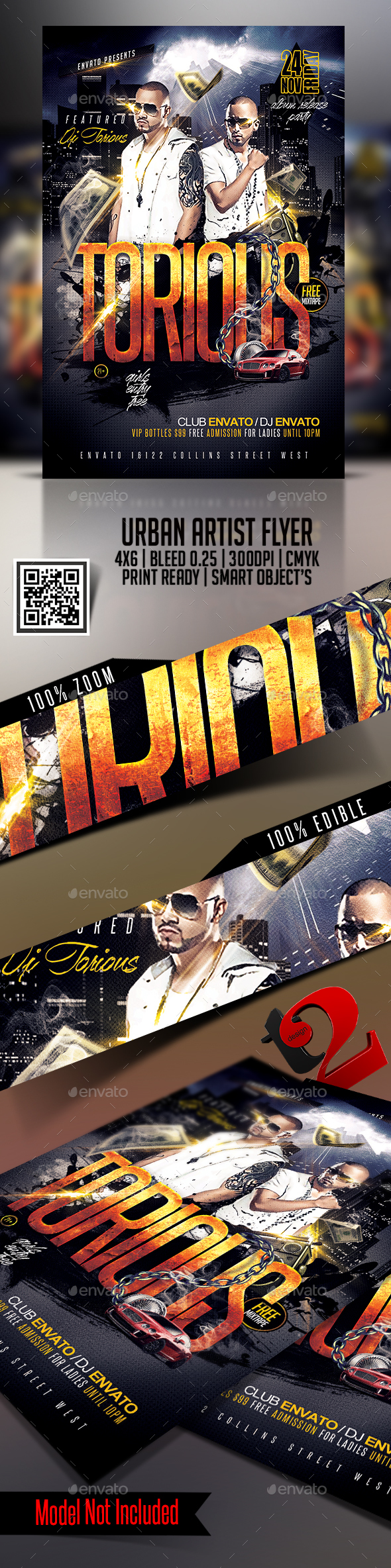 Urban Artist Flyer Template - Clubs & Parties Events