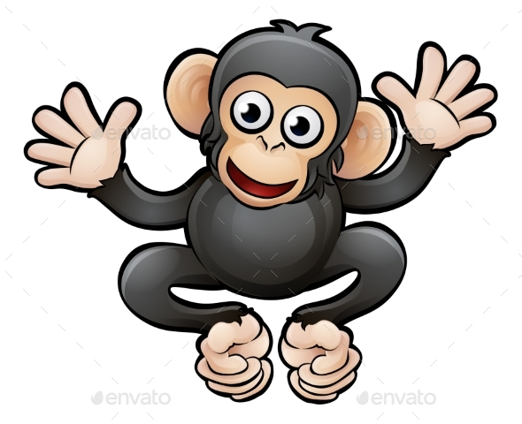 Chimp Safari Animals Cartoon Character - Animals Characters