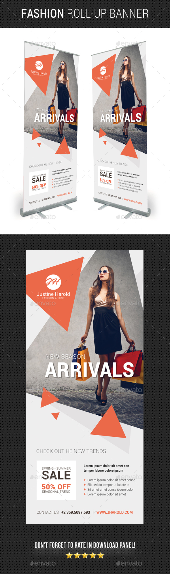 Fashion Roll-Up Banner 05 - Signage Print Templates