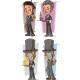 Cartoon Intelligent in Suit Character Vector Set
