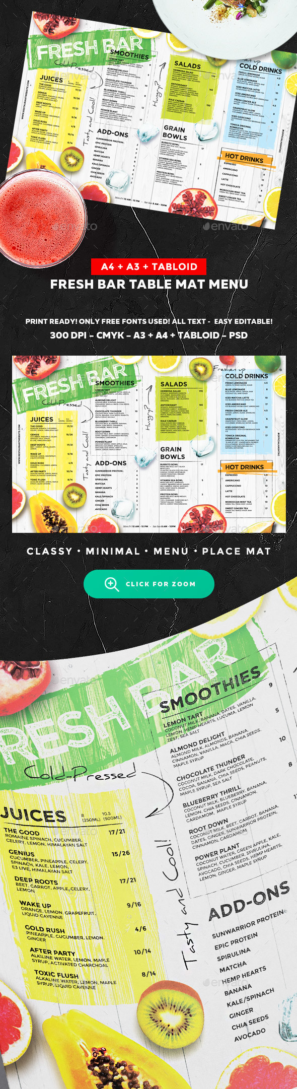 GraphicRiver Juice Drinks Menu 20250323