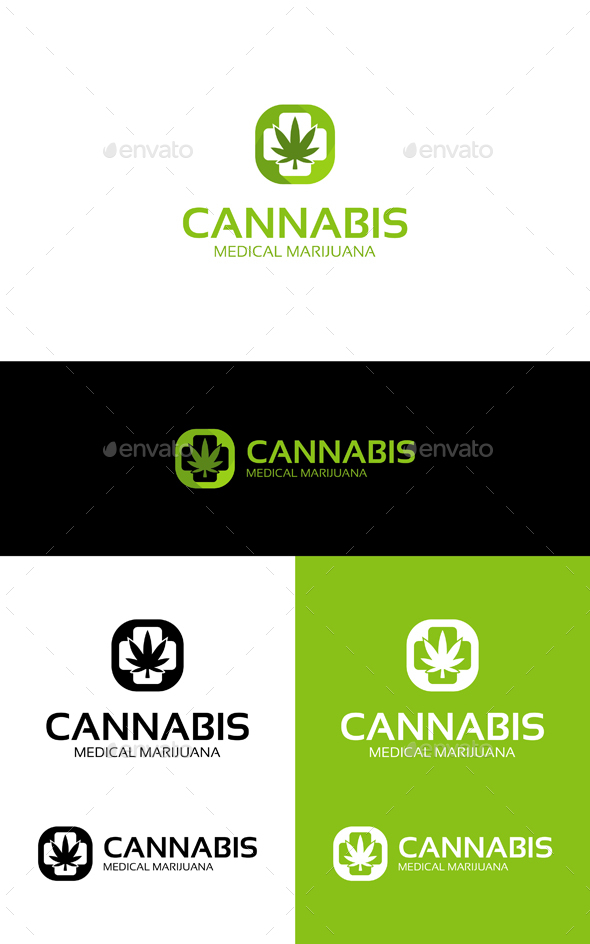 Cannabis Medical - Symbols Logo Templates