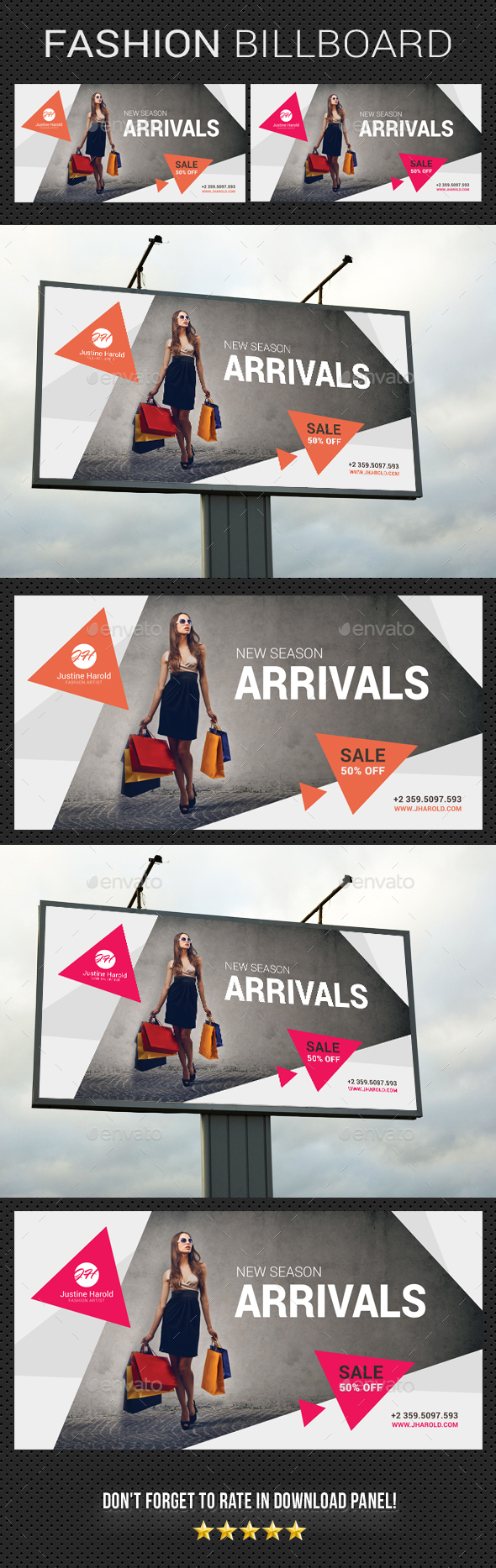 Fashion Billboard 02 - Signage Print Templates