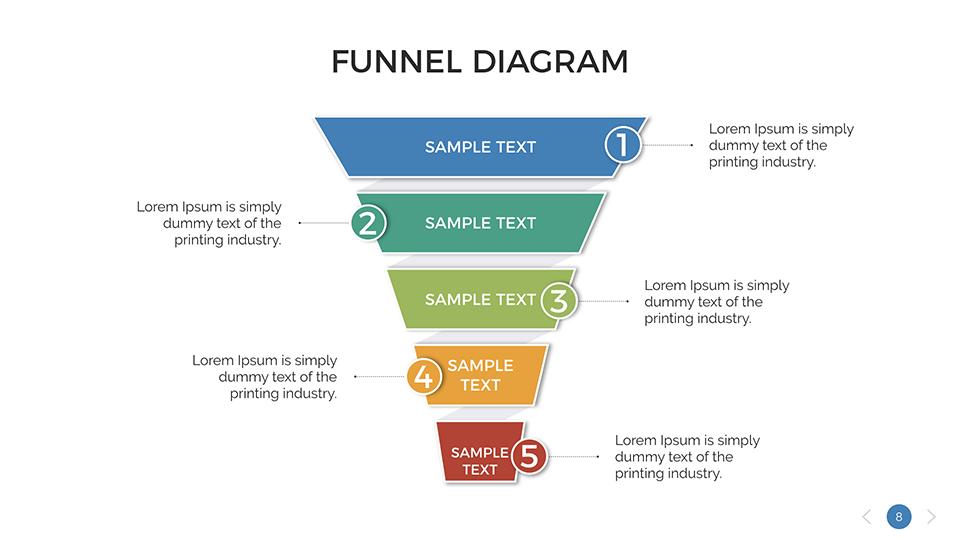 Funnel diagram keynote presentation template by sananik graphicriver funnel diagram keynote presentation template ccuart Image collections