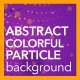 Abstract Colorful Particle Background