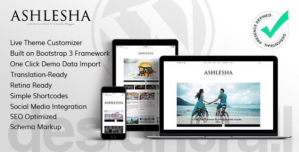 Ashlesha – Blog WordPress Theme (Personal) images