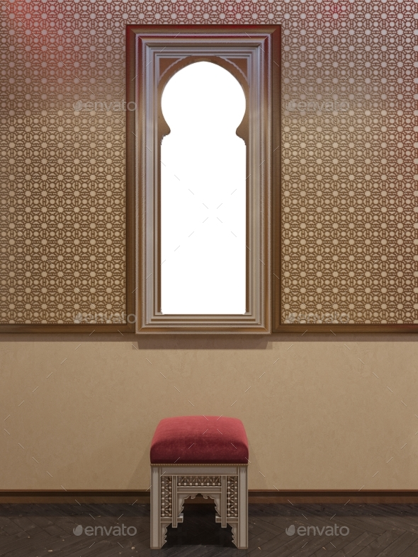 GraphicRiver 3D Illustration Islamic Style Interior Design 20250548