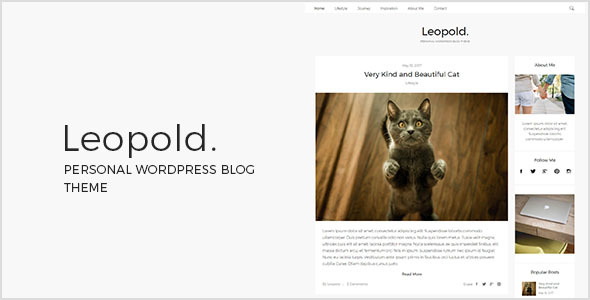 Leopold – Personal WordPress Blog Theme (Personal) images