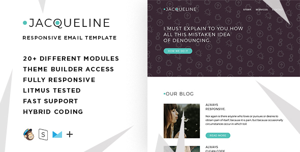 Jacq – Responsive Email + StampReady Builder - Email Templates Marketing