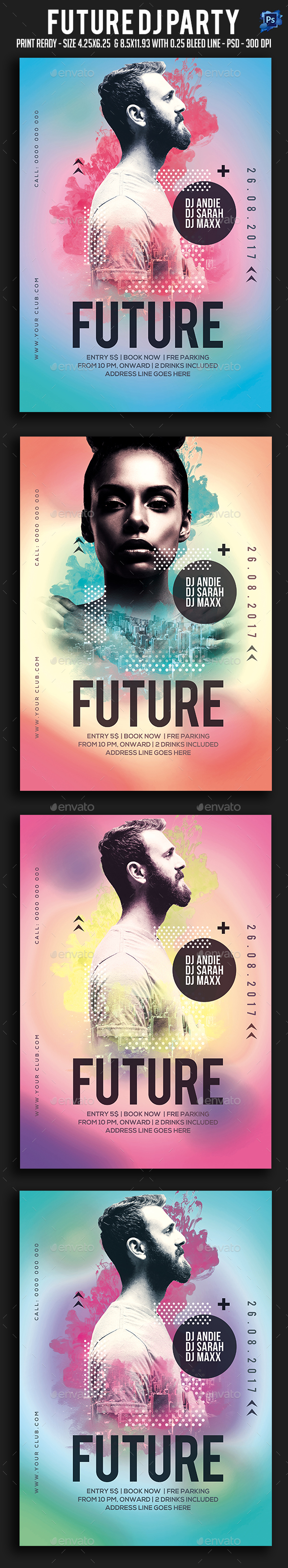 Future Dj Party Flyer - Clubs & Parties Events