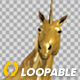 Golden Unicorn  - Stamping Hoof - Angle View - VideoHive Item for Sale