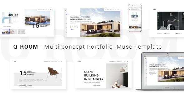 ThemeForest Q ROOM Multi-concept Portfolio Muse Template 20250943