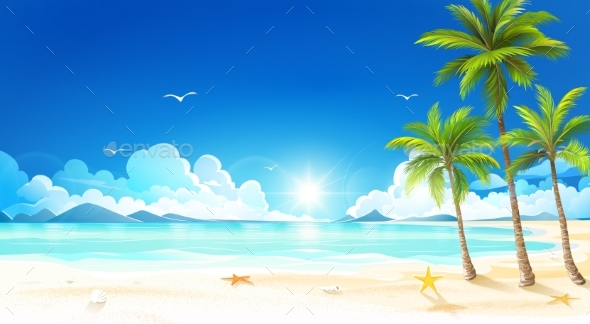 GraphicRiver Tropical Beach 20251000