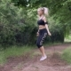 Woman Jumping Rope in the Park - VideoHive Item for Sale