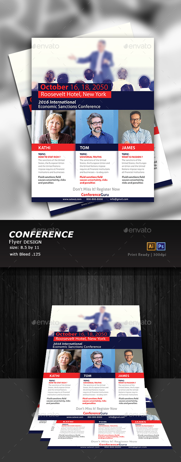 Conference Flyer - Flyers Print Templates