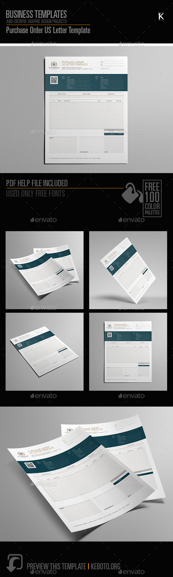 GraphicRiver Purchase Order US Letter Template 20251089