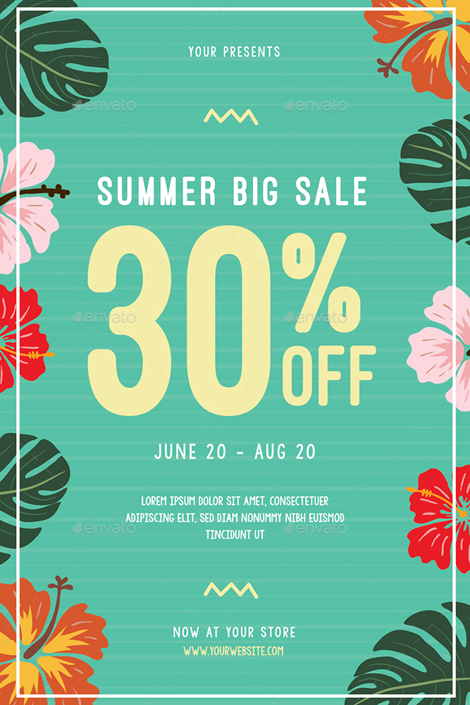 summer sale flyer   instagram post by guuver
