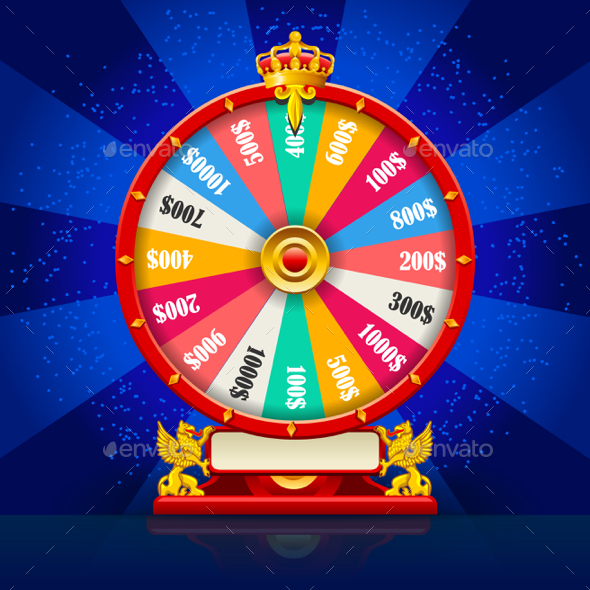 Fortune Wheel Realistic Vector Spinning Lucky Roulette - Miscellaneous Vectors