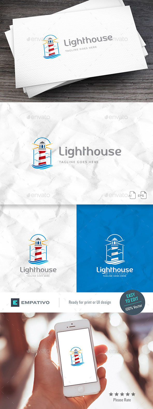 GraphicRiver Lighthouse Logo Template 20251216
