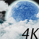 Night Clouds Under the Big Moon - VideoHive Item for Sale