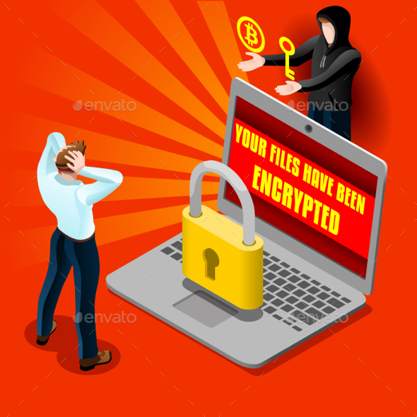 GraphicRiver Cyber Computer Attack Email Malware Isometric Detailed Vector 20251254