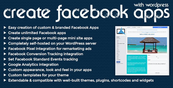 Create Facebook Apps with WordPress (Social Networking) images