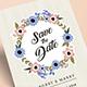 Flower Wedding Invitation Suite