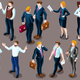 Isometric People Business Suit 3D Icon Set Vector Illustration - GraphicRiver Item for Sale
