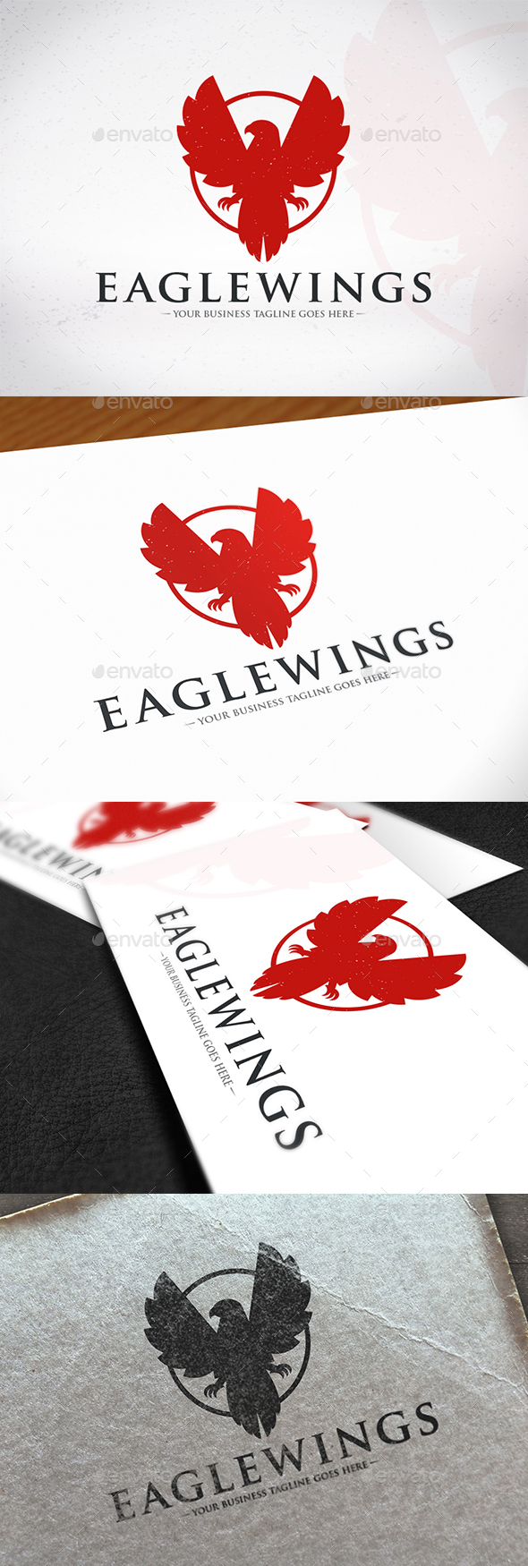Eagle Circle Creative Logo - Animals Logo Templates