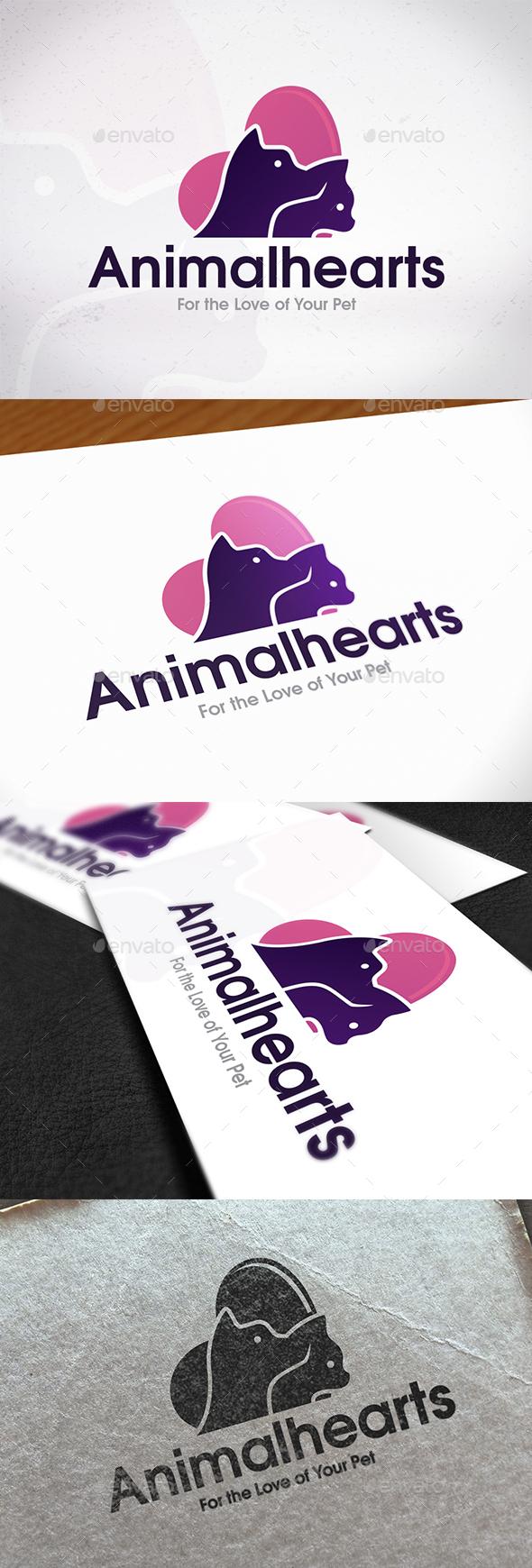Animal Hearts Logo Design - Animals Logo Templates