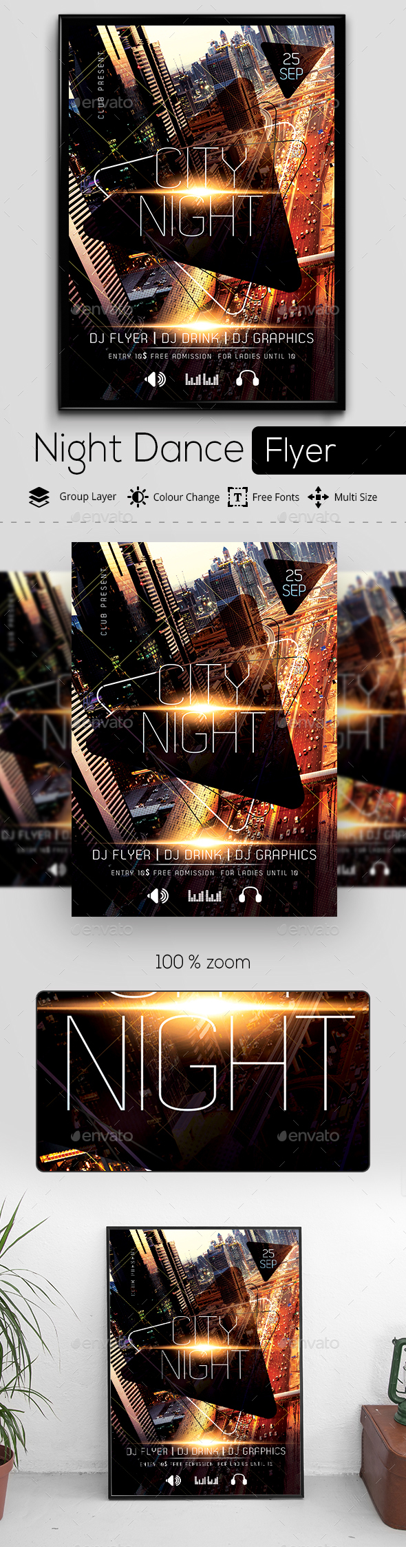 GraphicRiver City Night Party Flyer 20251464