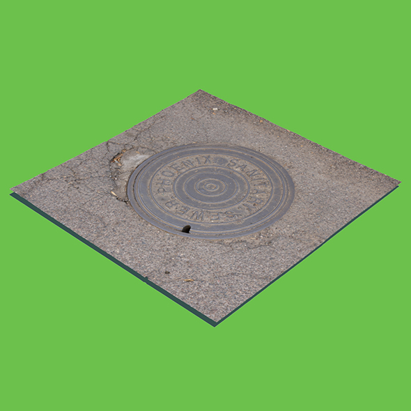 Phoenix Manhole Cover (3D scan) - 3DOcean Item for Sale