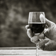 Man tasting a glass of red wine - PhotoDune Item for Sale