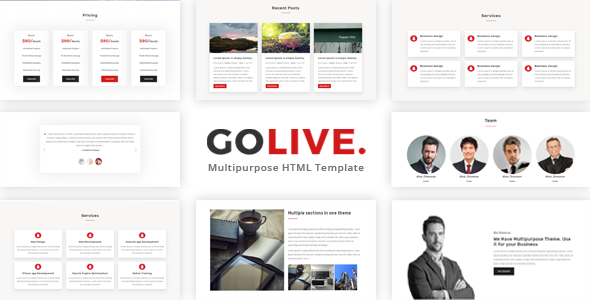GoLive – Multipurpose Bootstrap Template (Corporate) images