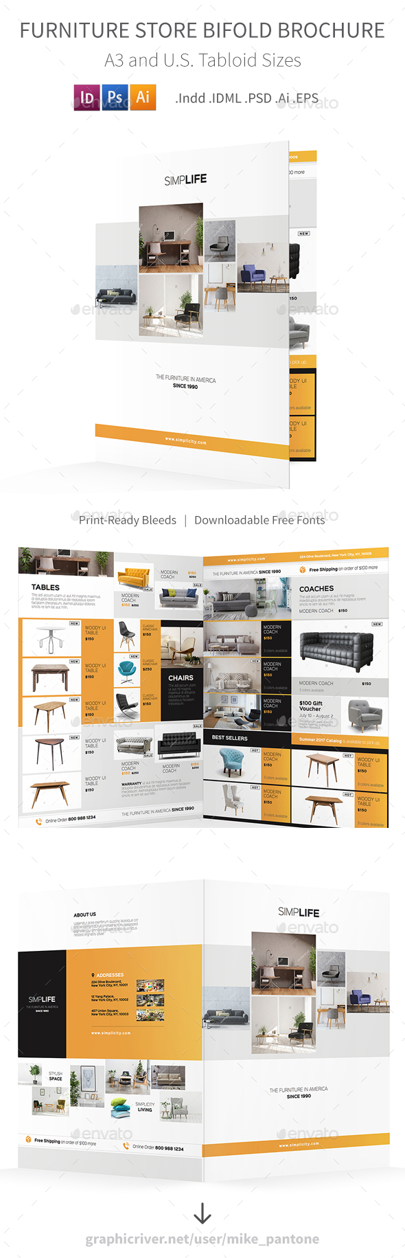 GraphicRiver Furniture Store Bifold Halffold Brochure 3 20251785