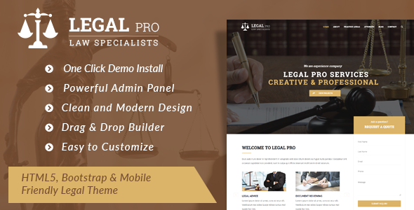 Legal Pro - Law/Legal Business WordPress Theme - Business Corporate