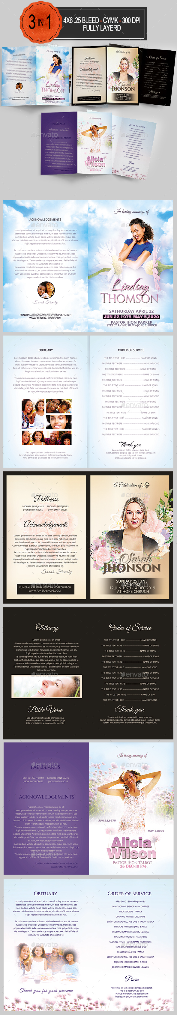 GraphicRiver Funeral Program Bundle 20251819