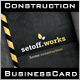 Setoff Construction Business Card - GraphicRiver Item for Sale