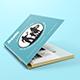Spiral Hardbound Book With Folder Cover Mockups