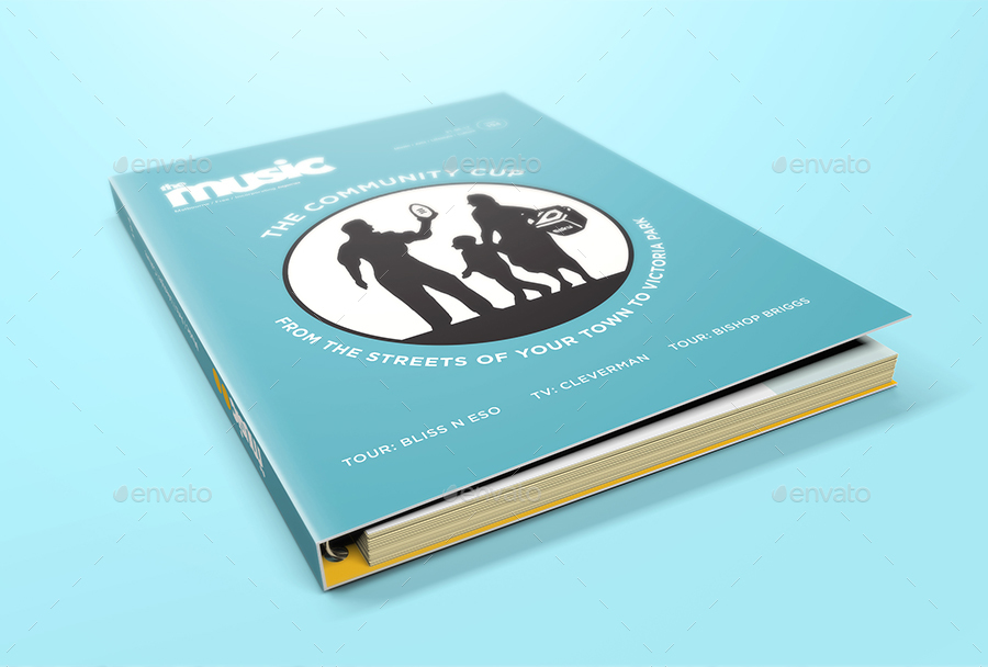 spiral hardbound book with folder cover mockups by streetd
