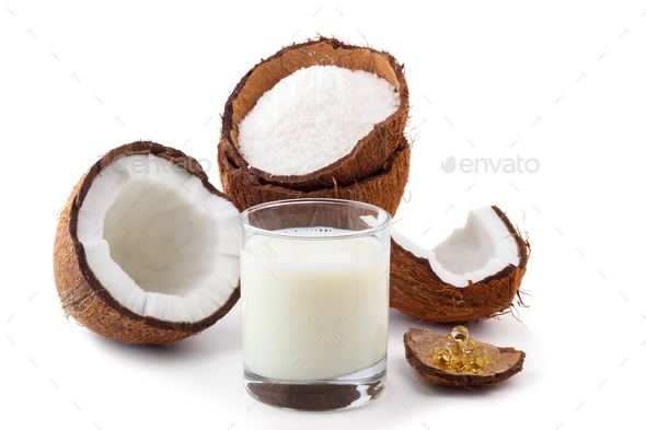 Coconut milk,oil and  flakes