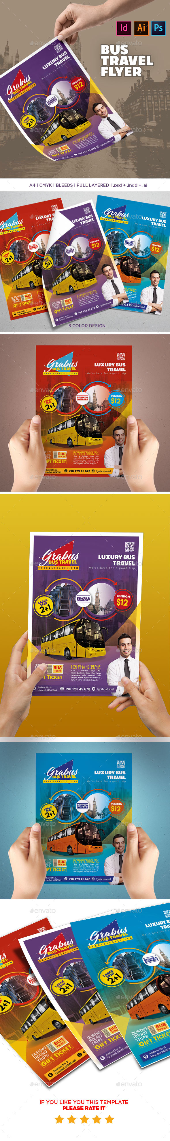 Bus Travel Flyer - Events Flyers