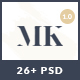 MK Shop - Awesome eCommrece Fashion PSD Template Nulled