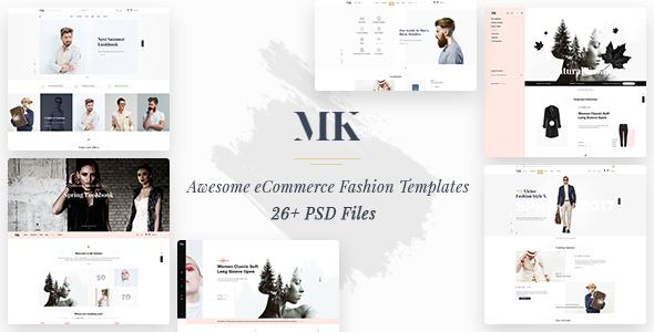 MK Shop - Awesome eCommrece Fashion PSD Template