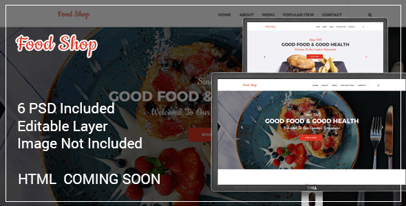 Free Download The Restaurant PSD Template