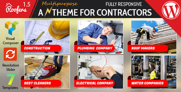 Roofers - WordPress Theme For Construction, Contractor Companies