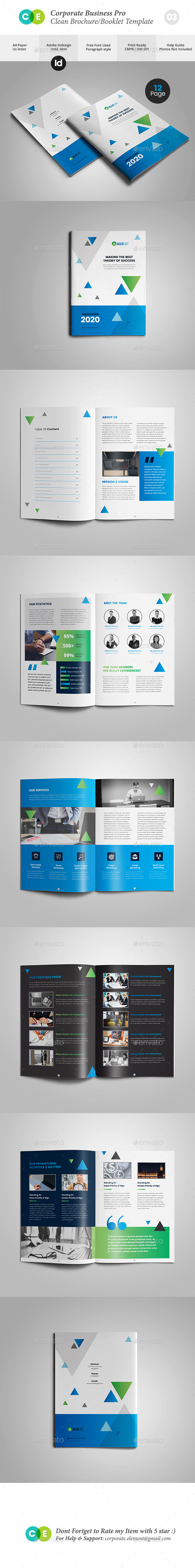 Business Clean Corporate Pro Brochure V03 - Brochures Print Templates