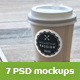 Coffee Cup and Paper Card Mock-Up - GraphicRiver Item for Sale
