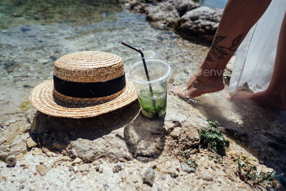 Summer refreshing cocktails with mint - Stock Photo - Images