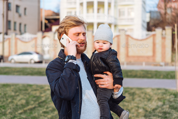 Father and his son - Stock Photo - Images